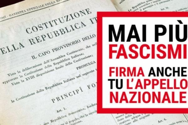 Mai più fascismi: la raccolta firme e la petizione