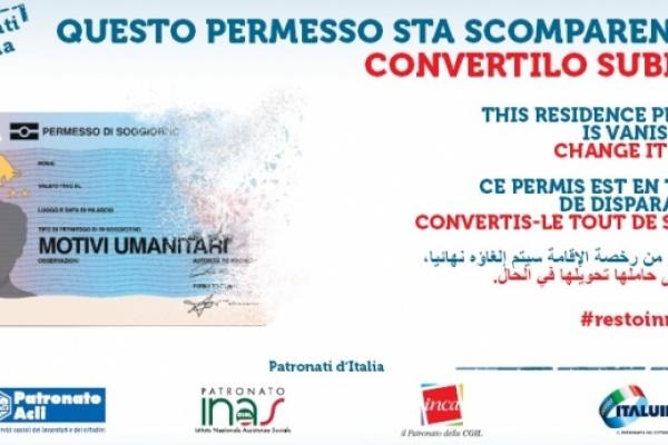 "#restoinregola. La campagna ""umanitari"" del Patronato"