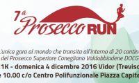 7° Prosecco Run il prossimo 4 dicembre