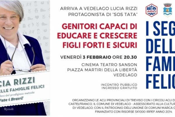 Arriva a Vedelago Lucia Rizzi il prossimo 3 febbraio
