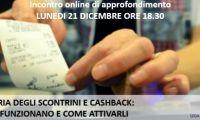 Cashback e lotteria degli scontrini: appuntamento online per capire